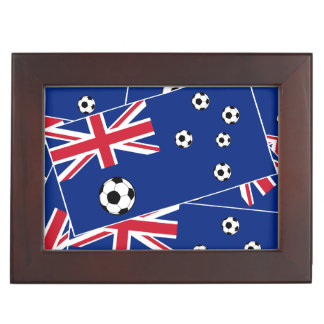 Australia Flag Football Soccer Memory Box