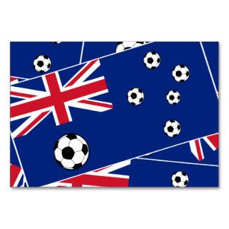 Australia Flag Football Soccer Table Cards