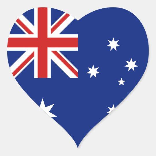 Australia Flag Heart Sticker
