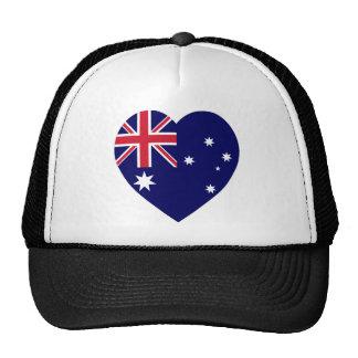 Australia Flag Heart Trucker Hat