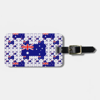 Australia Flag in Multiple Colorful Layers Tag For Luggage