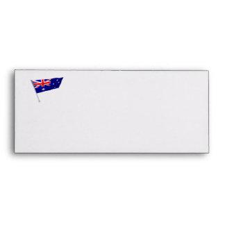 Australia flag in the wind envelope