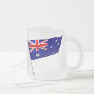 Australia flag in the wind coffee mug