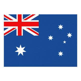 Australia Flag Custom Invitation