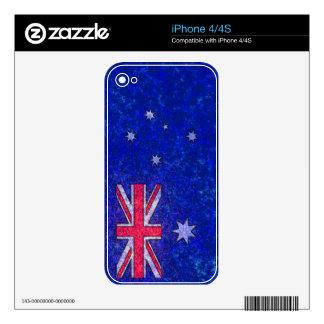 AUSTRALIA FLAG iPhone Skin iPhone 4 Decals
