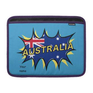 Australia Flag Kapow Comic Style Star Sleeve For MacBook Air