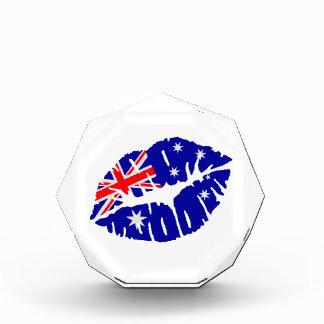 Australia flag kiss award