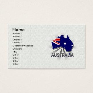 Australia Flag Map 2.0 Business Card