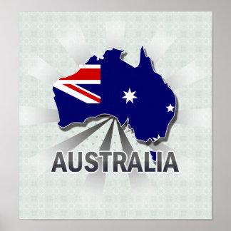 Australia Flag Map 2.0 Posters