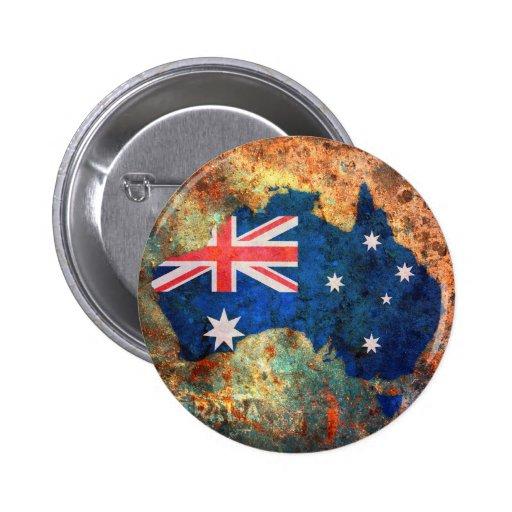 Australia Flag Map 2 Inch Round Button