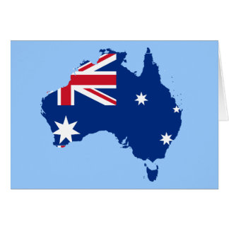 australia flag map greeting cards