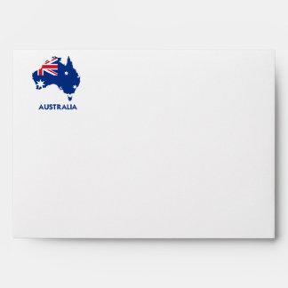 AUSTRALIA FLAG MAP ENVELOPES