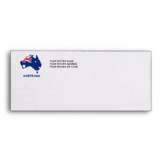 AUSTRALIA FLAG MAP ENVELOPE