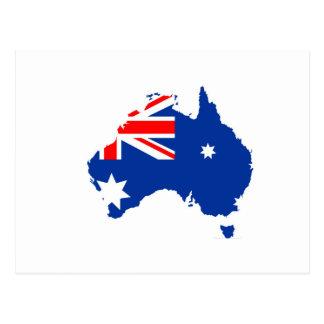 australia flag map.jpg postcard
