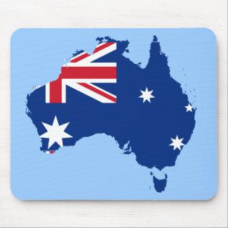 australia flag map mouse pad