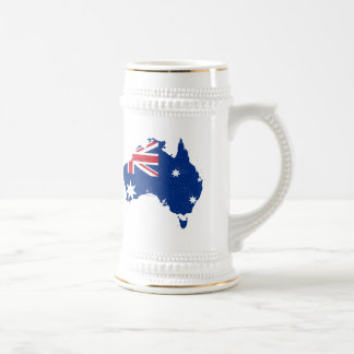 Australia Flag Map Mugs