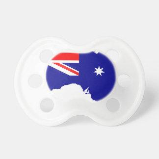 Australia Flag Map Pacifier