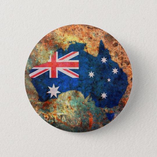 Australia Flag Map Pinback Button
