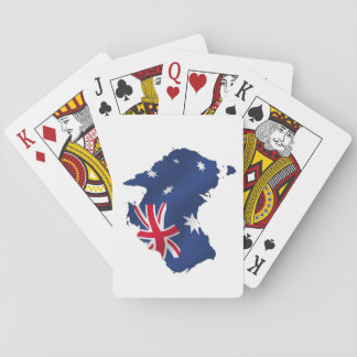 Australia Flag Map Playing Cards
