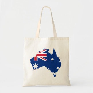 australia flag map tote bag