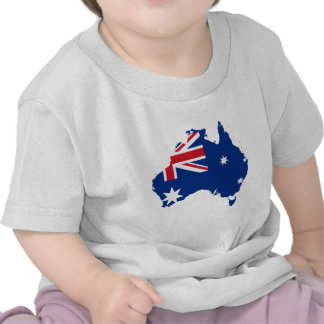 australia flag map tshirt