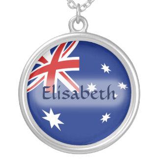 Australia Flag + Name Necklace