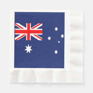 Australia flag napkin