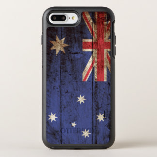 Australia Flag on Old Wood Grain OtterBox Symmetry iPhone 8 Plus/7 Plus Case
