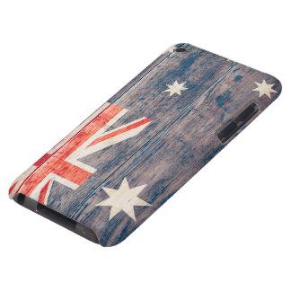 Australia Flag on Wood iPod Case-Mate Case