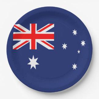 Australia flag paper plate