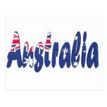 Australia Flag Post Card