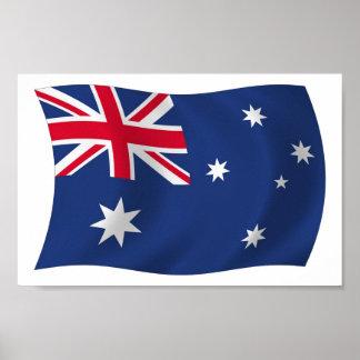 Australia Flag Poster Print