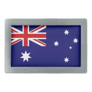 Australia flag rectangular belt buckle