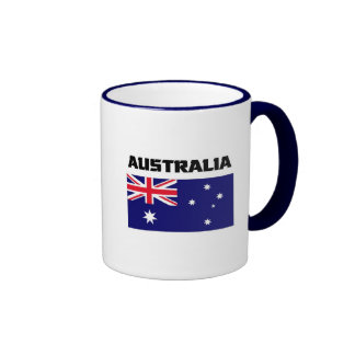 Australia Flag Ringer Mug