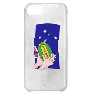 Australia Flag Rugby Ball Cartoon Hands iPhone 5C Cover