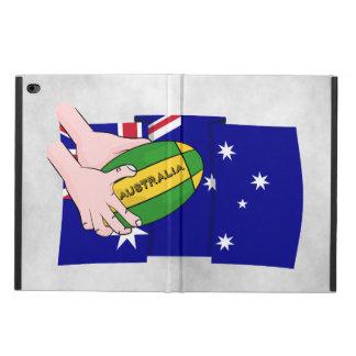 Australia Flag Rugby Ball Cartoon Hands Powis iPad Air 2 Case