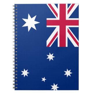 Australia Flag Spiral Notebook