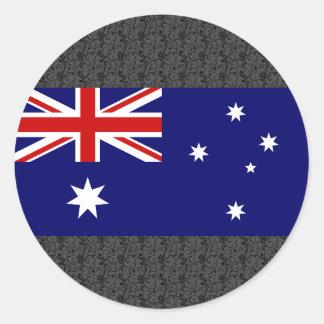 Australia Flag Classic Round Sticker