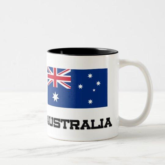 Australia Flag Two-Tone Coffee Mug