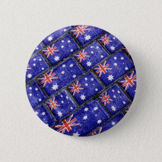 Australia Flag Urban Grunge Pattern Pinback Button