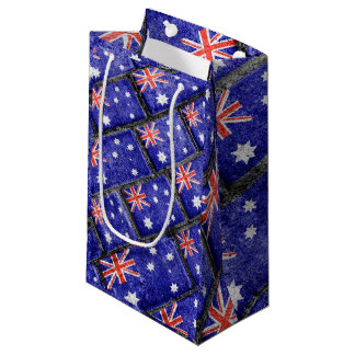 Australia Flag Urban Grunge Pattern Small Gift Bag