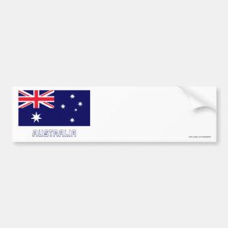 Australia Flag with Name Car Bumper Sticker
