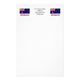 Australia Flag with name in Russian Stationery