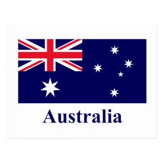 Australia Flag with Name Postcard