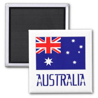Australia Flag & Word Magnet