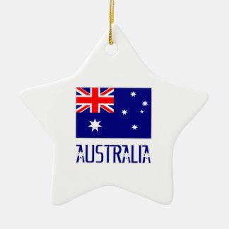 Australia Flag & Word Christmas Tree Ornament