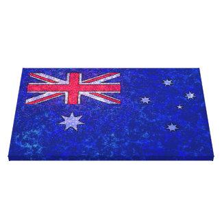 AUSTRALIA FLAG Wrapped Canvas Print