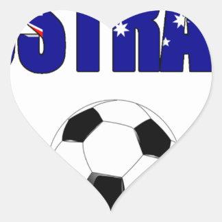 Australia Football 5044 Heart Sticker