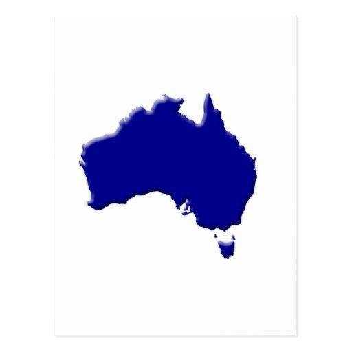 Australia-forma-azul-camas Postales