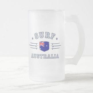 Australia Frosted Glass Beer Mug